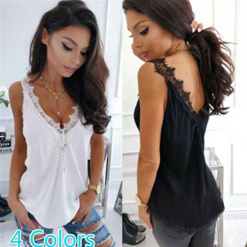 2019 Vakantie Vrouwen Mode Zomer Casual Tank Tops Casual Losse Vest Strappy Cami Mouwloze Crop Shirt Lot