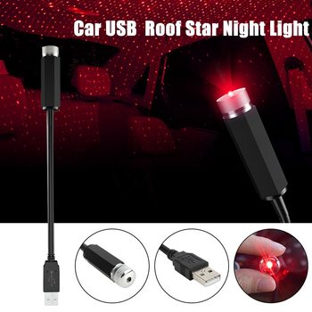 USB Star Night Light Mini LED Car Roof Star Night Light USB Decorative Lamp Projector Adjustable Atmosphere Home Ceiling Decor image