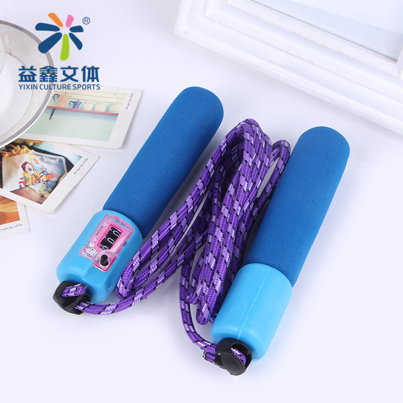 Single Person Adjustable Length Count The Academic Test For The Junior High School Students Jump Rope Foam Rubber Grip Pattern F
