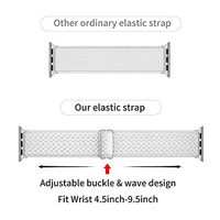 Scrunchie nylon strap for apple watch band 44mm 40mm 42mm 38mm adjustable stretchy solo loop  elastic iwatch series se 6 5 4 3