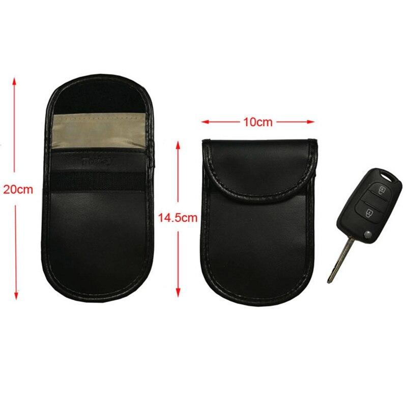 2 шт./лот ключа автомобиля чехол, блокирующий сигнал Анти-Вор Защитная блоки сумка Экранирование чехол бумажник чехол для защиты