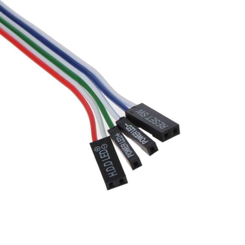 حالة سطح المكتب ATX السلطة على إعادة تعيين التبديل مع كابل HDD مصباح ليد ل جهاز كمبيوتر شخصي هبوط السفينة دعم