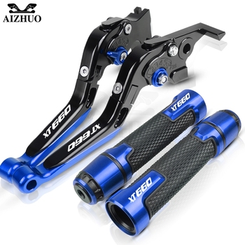 For YAMAHA XT660/X/R/Z XT660X XT660R XT660Z 2004-2017 2016 2015 2014 Motorcycle Brake Clutch Lever Handle Grips Hand Bar End