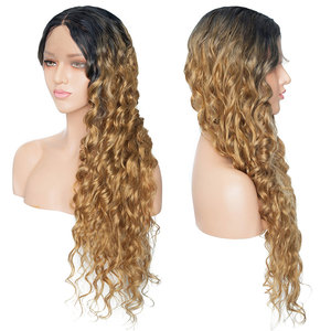 Image 4 - S noilite 28inch Long Ombre Lace Front Wig 4*0.6 deep lace synthetic lace front wig free parting body wave wig for black women