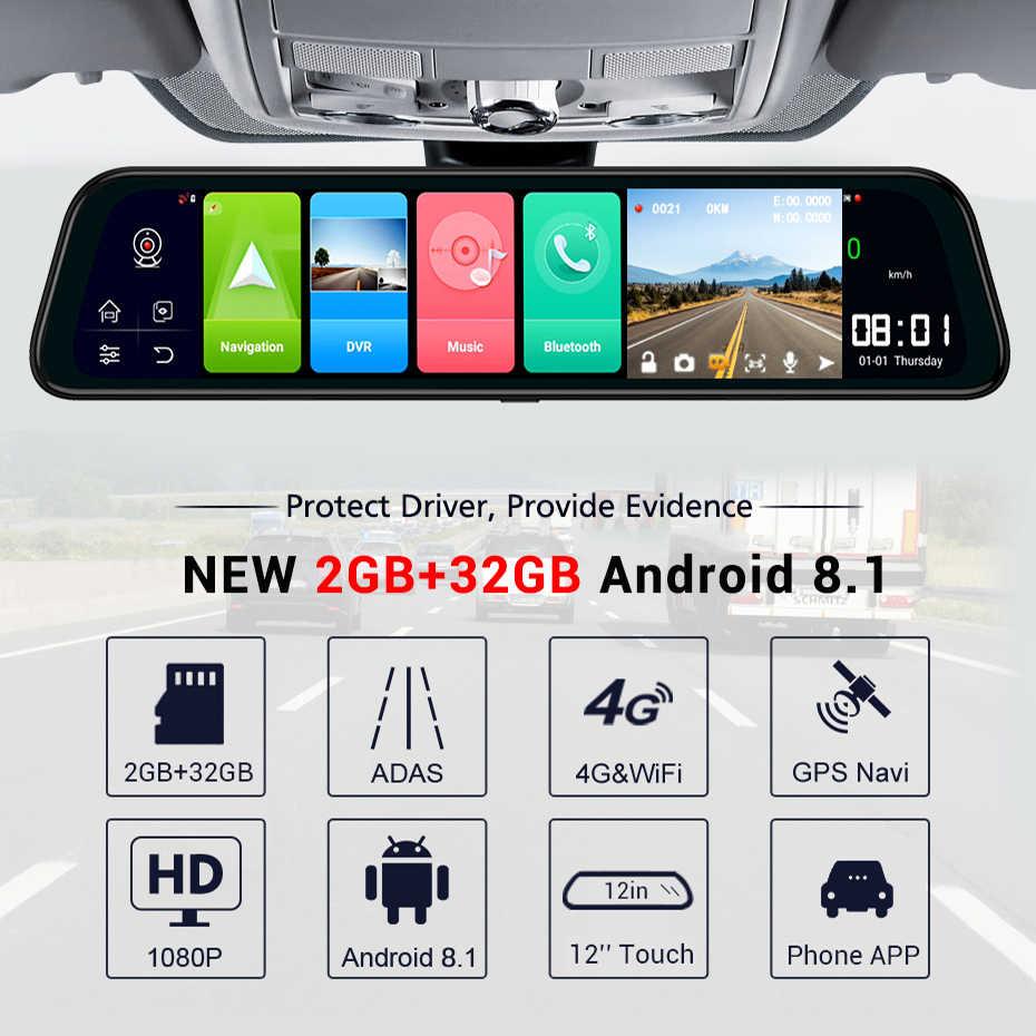 LDZDSEE Android 8.1 2G + 32G wyświetlacz tyłu samochodu dvr lustro ADAS FHD 1080P z kamerą 10 ''IPS napęd wideo rejestrator samochodowy Night Vision