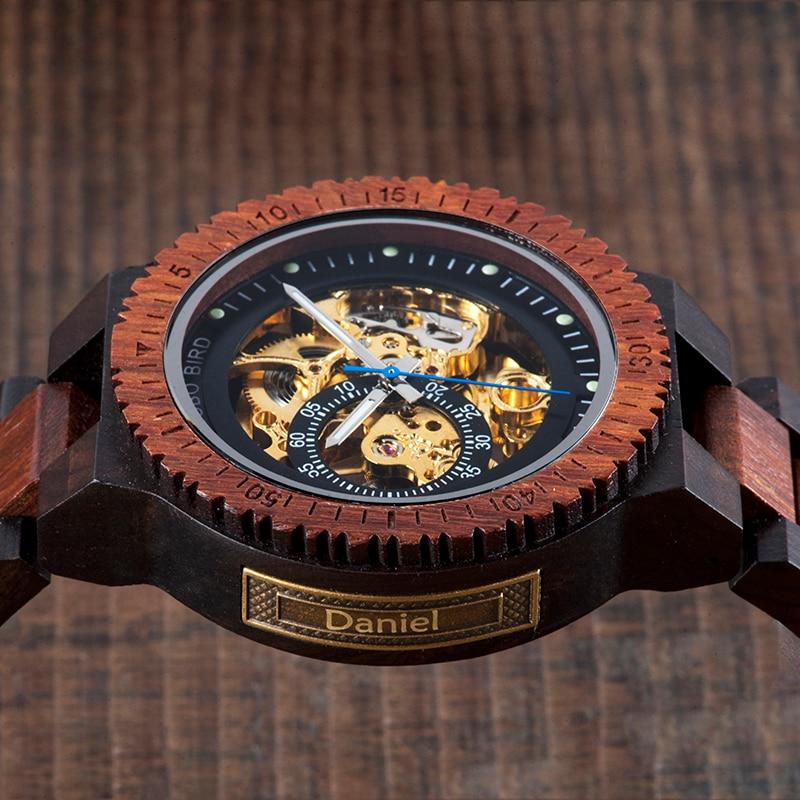 H4c66c5acc3da4c8d9e7c82579ba17904G Personalized Customiz Watch Men BOBO BIRD Wood Automatic Watches Relogio Masculino OEM Anniversary Gifts for Him Free Engraving