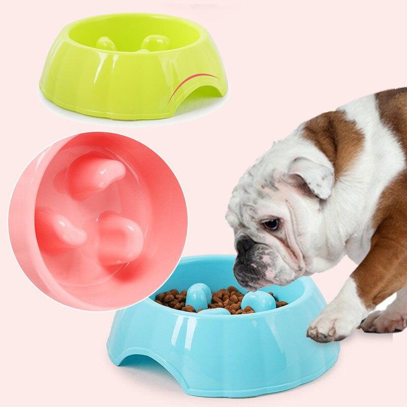 遅く食べるフィーダー皿腸肥満犬用品ボウルペット犬猫インタラクティブスロー食品ボウル子犬