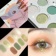 Kolor zielony makijaż cienie paleta cieni do powiek matowy makijaż paleta Shimmer paleta perłowa paleta cieni do powiek makijaż tanie tanio CN (pochodzenie) Jedna jednostka green eyeshadow DŁUGOTRWAŁY łatwe do noszenia Wodoodporny 13 5g Pełny rozmiar Powyżej ośmiu kolorów