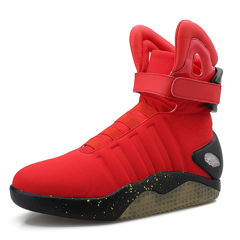 Shoes Men Sneakers Basketball-Shoes High-Top Back-To-Future-Led-Light for Cosplay Glowing title=