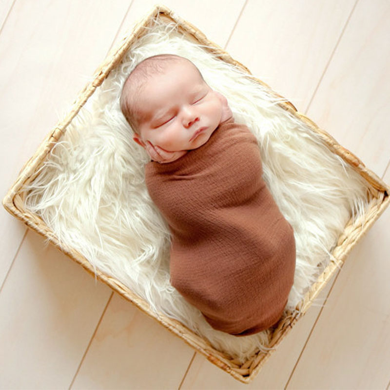 Baby Photography Fur Blanket Baby Photo Props Blankets Cushion Long Wool Blanket Newborn Photography Props Accessories