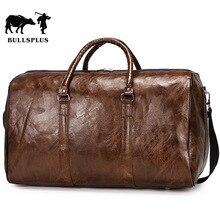 Travel Bag Handbag Pu retro travel bag large capacity short distance light exercise fitness weekend  overnight