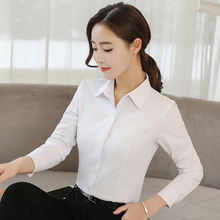 Women Shirts Elegant White Shirt Plus Size Korean Fashion Woman Blouses Womens Tops and OL