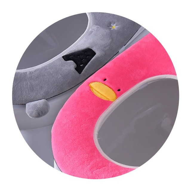 Universal plush Toilet Cushion Household Warm Soft Thicken Toilet Seat Cover Winter Waterproof WC Mat Bathroom Products 3