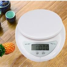 Мини-весы электронные цифровые кухонные весы для еды 5000 г/1 г цифровые весы для еды светодиодный инструмент для взвешивания