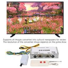 Dual Konsol Remote Control Converter Video Perangkat Game Gambar Sound Converter Dua Arah VGA Sinyal Video(China)