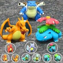 Charizard blastoise venusaur mc figura de ação pokemon wct charmander bulbasaur squirtle boneca brinquedos colecionáveis crianças presentes