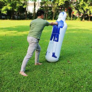 Image 4 - 160 ซม.ผู้ใหญ่InflatableฟุตบอลGoal Keeper Tumbler AirฟุตบอลรถไฟDummyเครื่องมือPVC Inflatable Tumbler Wallฟุตบอล