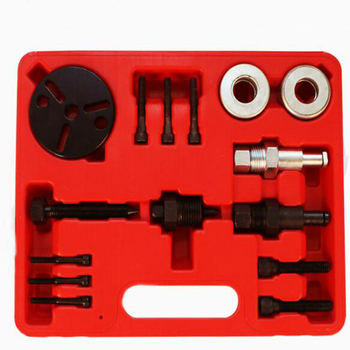 15pcs Air Compressor Clutch Rebuild Removal Tool Kit AC Clutch Puller Auto Air Conditioning Remover Installer Compatible for G M air conditioning oil testing tool oil filling tool for air conditioning compressor test compressor oil tool