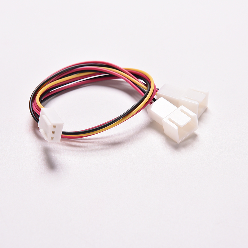 3 Pin PC Computer Case CPU Dual Fan Power Extension Cable Y Splitter 1 Female To 2 Male Motherboard PSU Cable Connector 15cm