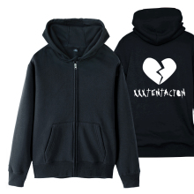 xxxtentacion Broken Heart Man Boy Coat Full Zip Hoodie Fleece Hooded Jacket Autumn Winter Couple Clothes ZIIART