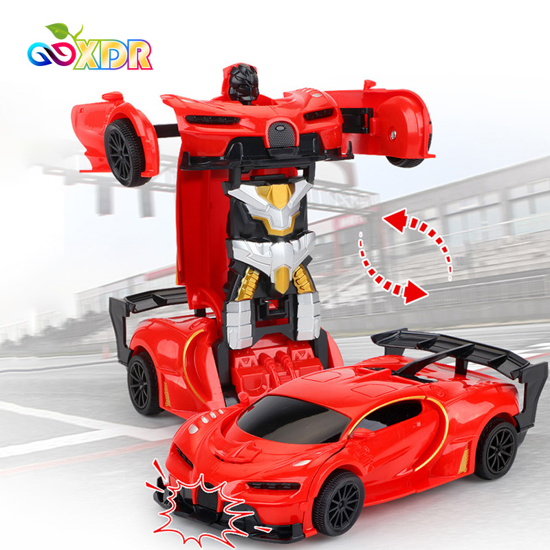 1:18 RC Car Toys For Children 2 In 1 RC Car Transformation Robots Toys Remote Control Sports Car Models Toys For Boys Kids Gifts