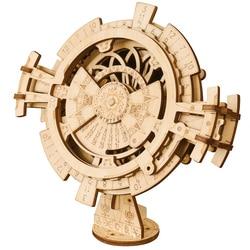 Robotime Creatieve Diy 3D Perpetual Kalender Snijden Houten Puzzel Game Montage Speelgoed Cadeau Voor Kinderen Tieners Volwassen LK201