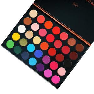 Красота глазурованная 35 цветов студия матовые тени для век мощность Палитра Блеск хайлайтер мерцающий макияж Пигмент Тени для век Палитра