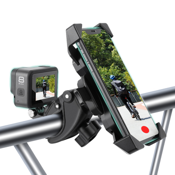 Universal Bicycle Mobile Motorcycle Bike Handlebar Stand Mount Bracket Holder For iPhone GoPro Hero 9 8 7 6 5 accessories