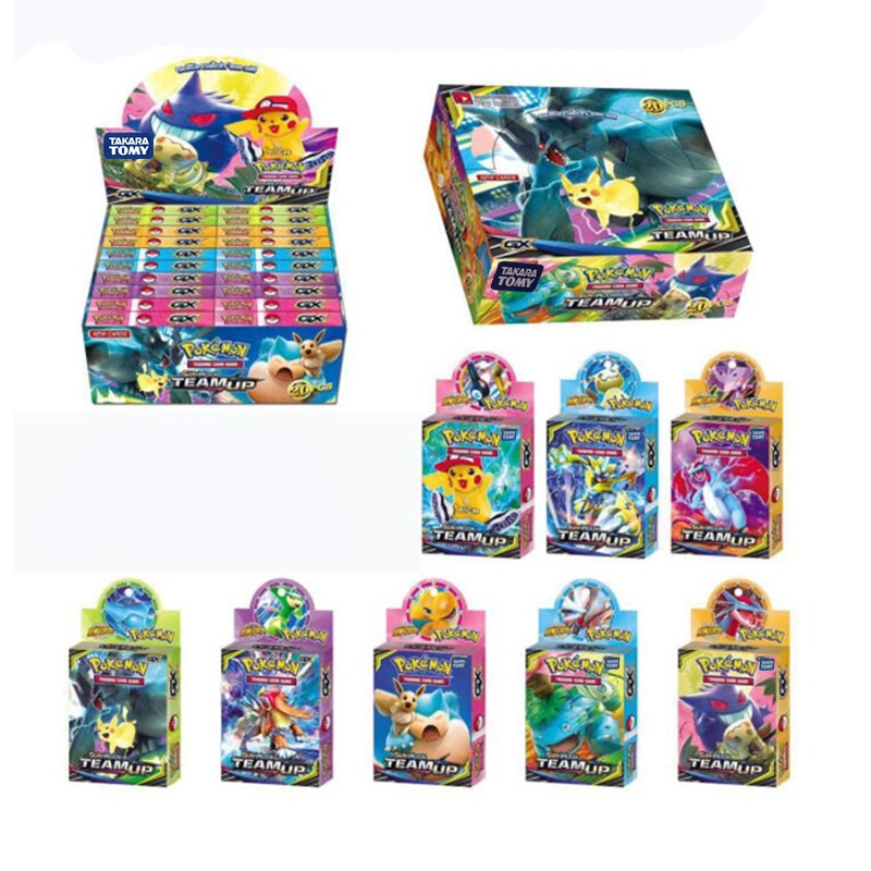 42PCS Random Box New POKEMON Card English Version Pokemon toys Battle Collection Card Box Kids Toy Gift