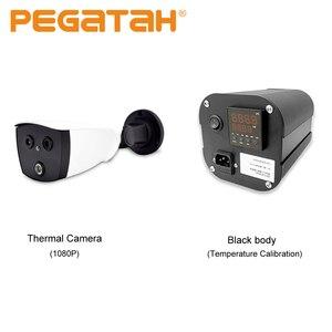 Kamera termowizyjna rozpoznawanie twarzy rozpoznawanie temperatury termicznej cameracamera i przenośny przyrząd do kalibracji black body