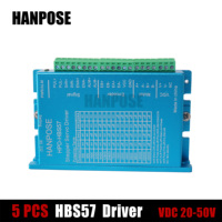 5pcs HBS57 New arrival NEMA17 stepper motor driver controller driver 20 50V for CNC Engraving machine kits