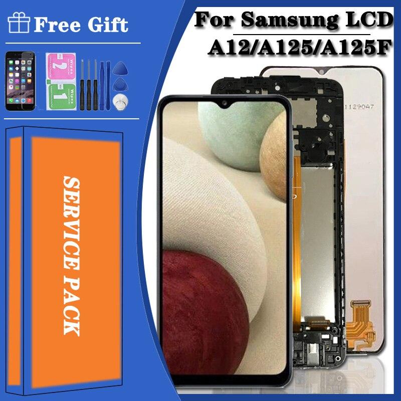 Oryginalny do Samsung Galaxy A12 LCD SM A12F SM A12F/DSN wyświetlacz LCD ekran dotykowy Digitizer zgromadzenie wymienić na Samsung A125 lcd|Ekrany LCD do tel. komórkowych|   -