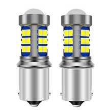2Pcs 1156 BA15S 7506 P21W R5W Super Bright 3030 LED Car Brake Bulbs Turn Signals Auto Backup Reverse Lamp Daytime Running Lights