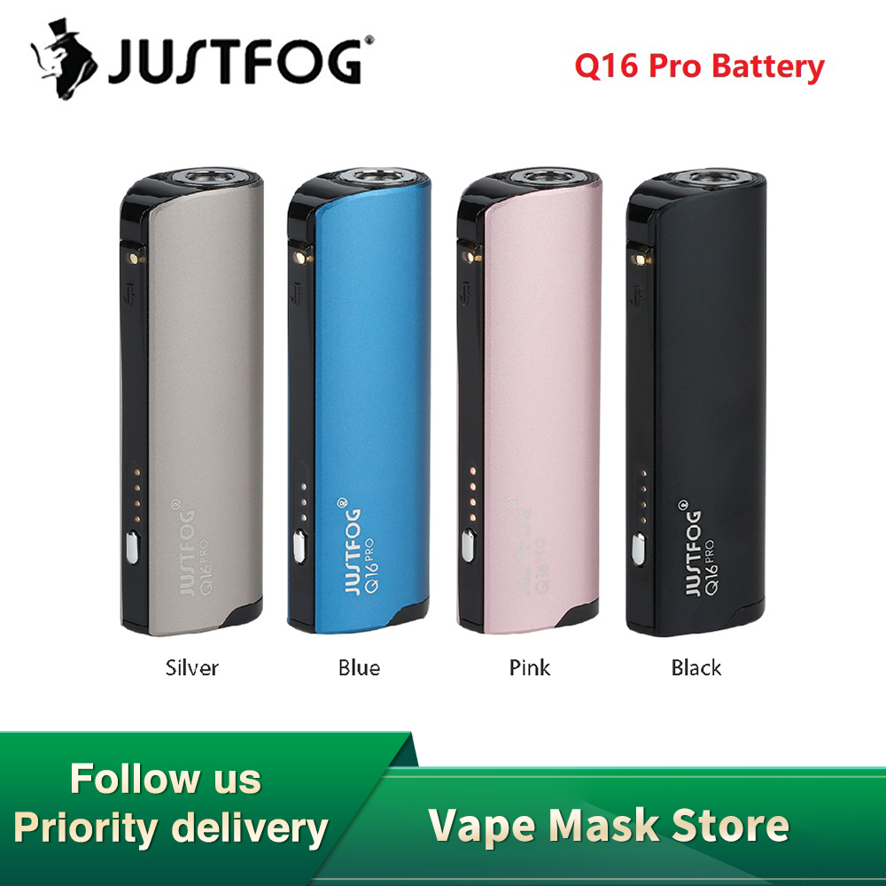 NEW Original JUSTFOG Q16 Pro Battery Mod With 900mAh Battery & Voltage Adjustment E-cig Vape Mod For JUSTFOG Q16 Pro Atomizer