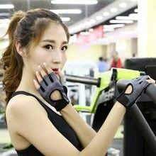 Ginásio profissional luvas de fitness power weight lifting feminino crossfit treino musculação meia dedo mão protetor