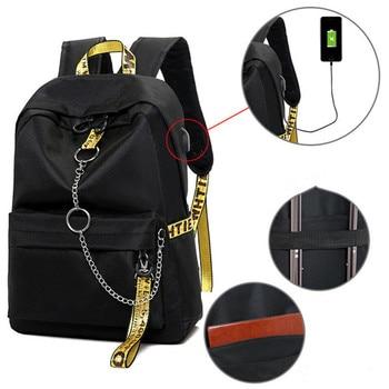Winmax Chain USB Laptop Backpacks Waterproof Anti theft Large Capacity Travel Backpack School Bag For Teenage Boys Girls Mochila - discount item  48% OFF School Bags