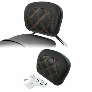 Motorcycle Passenger Sissy Bar Backrest Cusion Pad For Harley Touring Street Glide FLHX 2006-2020 Softail FXLR 18-20