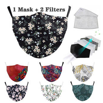Washable Reusable Mouth Mask Flower Face Mask Aztec Printed Masks Fabric Adult Protective PM 2.5 Dust Mouth Cover Mask