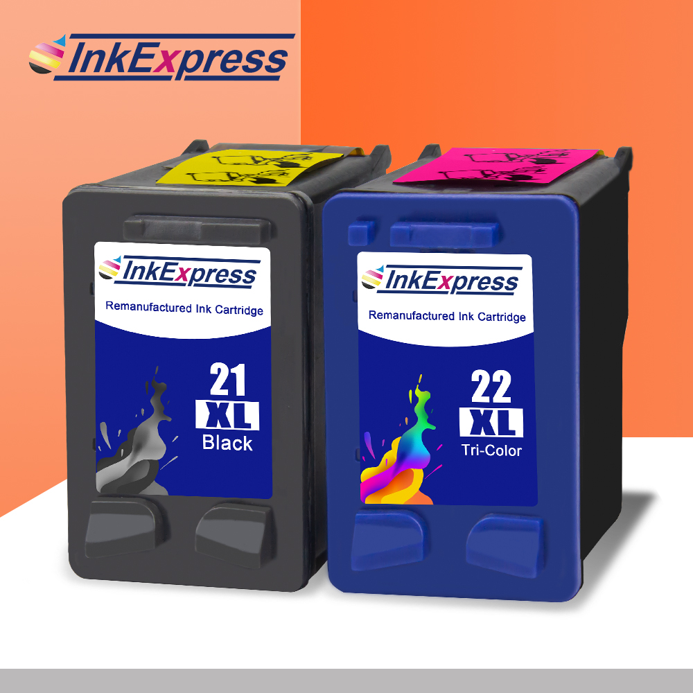 InkExpress 21XL 22XL Remanufactured Ink Cartridge For HP OfficeJet 4315 Deskjet 3910 3920 3940 D2430 F2120 F2140 F2180 Printer