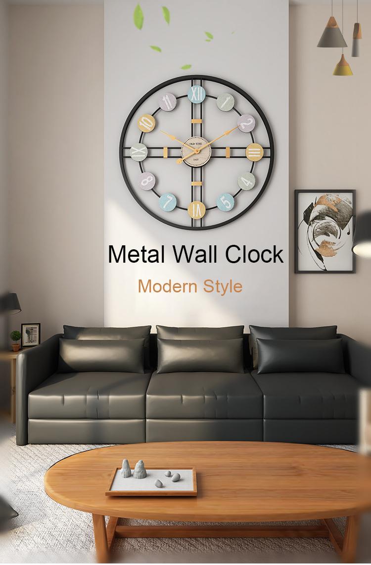 Metal Wall Clock Home Wall Decor Hanging 3D Wall Digital Clocks Living Room Decoration Modern Design Decorative Mute Clock Art (1)