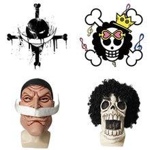 Мультяшная Аниме one piece brook mask парик косплей костюмы