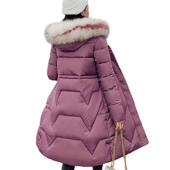 Elegant Big Fur Women Long Slim Winter Parkas Jacket Coat New Thick Warm Women Hooded Coat Cotton Padded Jackets Female new large fur down jacket winter women 2020 new fashion loose hooded cotton padded jacket coat female thick long parkas outwear