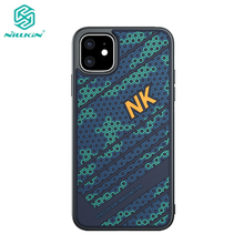 NILLKIN For iPhone 11 Pro 2019 Silicone PC Phone Case Max 3D Texture Relief TPU Shockproof Back Cover