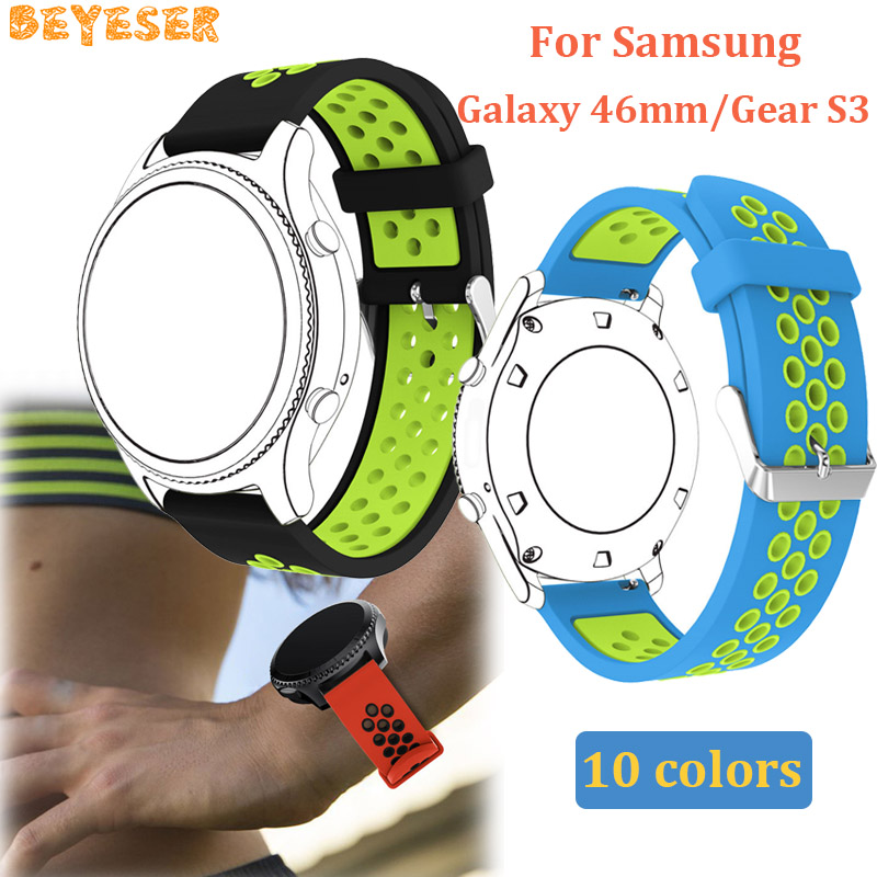 Silicone wrist strap For Xiaomi Huami Amazfit 2/2S wristband bracelet replacement For Samsung Gear S3 Cassic/Frontier watchband
