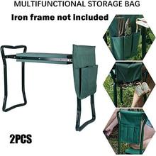 2 Pcs Tool Side Bag Pockets Pouch for Garden Bench Garden Kneeler Stools Gardening M56
