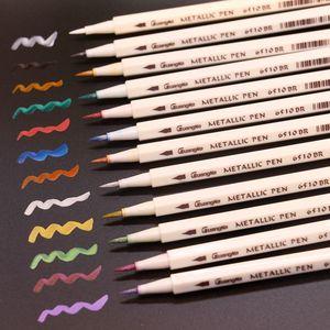 Image 5 - 30 Kleuren Metallic Zachte Borstel Markeerstift Diy Scrapbooking Ambachten Voor Tekening Fotoalbum Scrapbooking Ambachten Kaart Maken