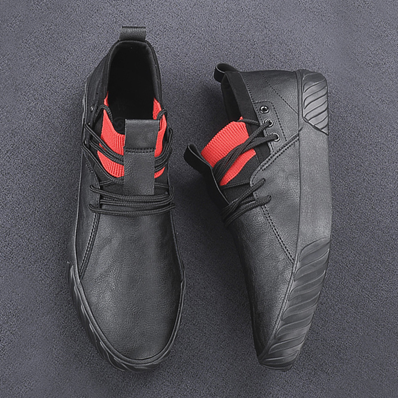 YITU British Style Men's Simple Casual Shoes Spring Autumn Men's Leisure Vulcanize Shoes Luxury Breathable Loafers Sneaker