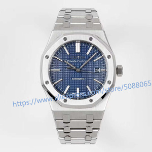 luxury brand Watch Men 41mm Sport Automatic Mechanical Watches Luminous calendar blue stainless steel 22