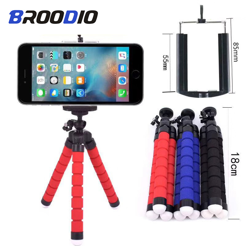 Tripod For Phone Mini Flexible Sponge Octopus Holder For IPhone Xiaomi Huawei Smartphone Camera Card Tripod Mount Accessory Clip