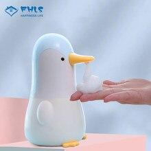 Otomatik sabunluk çocuk sevimli penguen banyo aksesuarları çocuk akıllı indüksiyon köpük yıkama el Sanatizer